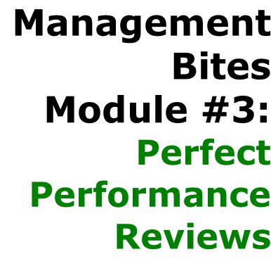 Management  Bites Module #3:  Perfect  Performance Reviews